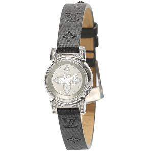 Louis Vuitton Silver Diamonds Stainless Stee Tambour Bijou Q151K Women's Wristwatch 18 MM