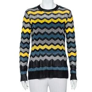M Missoni Multicolor Patterned Knit Lightweight Jumper M