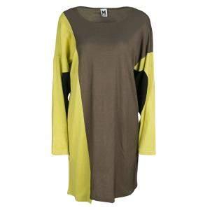 M Missoni Colorblock Knit Long Sleeve Dress M