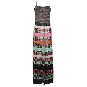 M Missoni Multicolor Lurex Knit Sleeveless Maxi Dress M