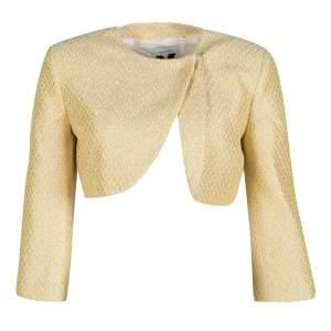 M Missoni Metallic Yellow Textured Cropped Jacket M