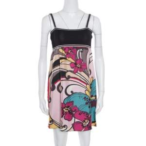 M Missoni Multicolor Floral Printed Sleeveless Dress S