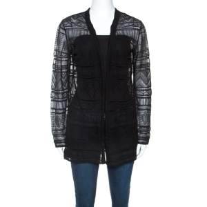 M Missoni Black Knitted Long Sleeve Cardigan M