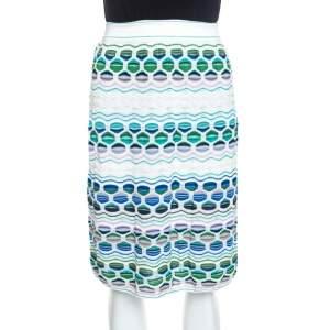 تنورة أم ميزوني ميدي تريكو منقوشة متعددة الألوان M