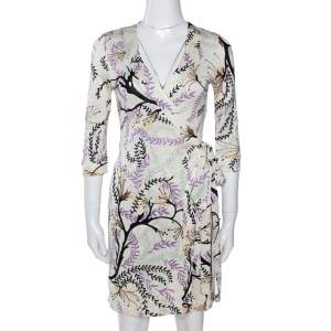 M Missoni Multicolor Printed Silk Jersey Wrap Dress S