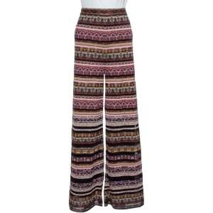 M Missoni Multicolor Lurex Knit Wide Leg Trousers L