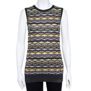 M Missoni Multicolor Patterned Knit Tank Top and Cardigan Set L