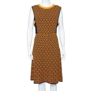 M Missoni Multicolor Crochet Knit Side Paneled Dress L