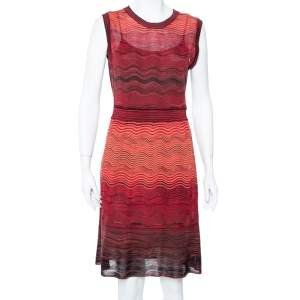 M Missoni Saffron Wave Knit Sleeveless Dress L