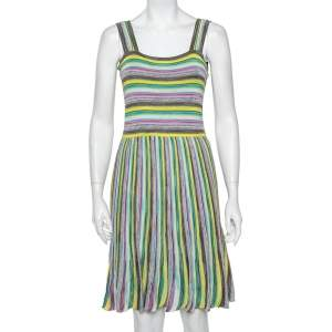 M Missoni Multicolor Knit Sleeveless Midi Dress M