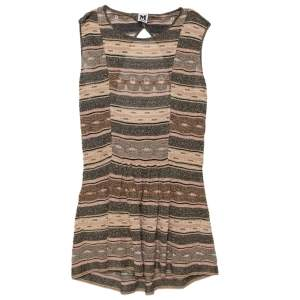 M Missoni Multicolor Lurex Knit Open Back Detail Mini Dress L