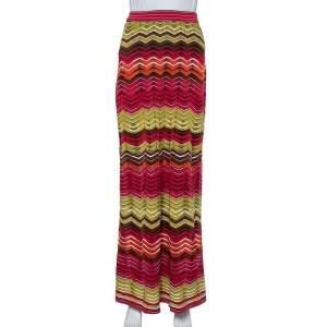 تنورة إم ميزوني ماكسي نمط متعرج متعدد الألوان مقاس صغير (سمول)