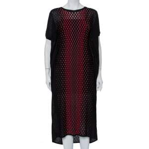 M Missoni Black Patterned Knit Oversized Midi Dress M