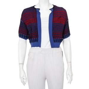 M Missoni Multicolor Knit Open Front Cropped Shrug S