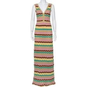 فستان ماكسي إم ميزوني تريكو لوريكس متعدد الألوان بلا أكمام مقاس كبير - لارج