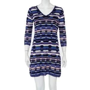 M Missoni Purple Patterned Knit Mini Dress M
