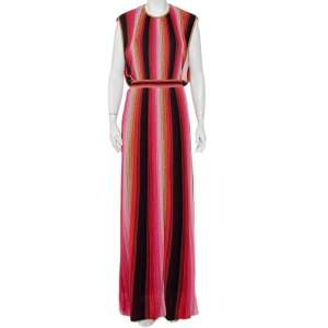 M Missoni Multicolor Striped Lurex Knit Maxi Dress L