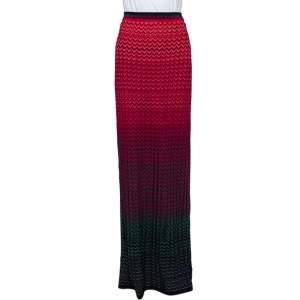 M Missoni Multicolor Patterned Knit Maxi Skirt S