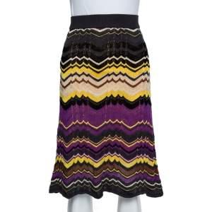 M Missoni Multicolor Patterned Knit Skirt S