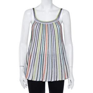 M Missoni Multicolor Striped Lurex Knit Tank Top M