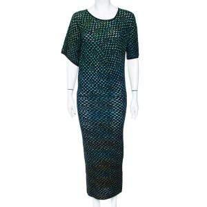 M Missoni Multicolor Mesh Jacquard Knit Midi Dress S