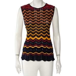 M Missoni Multicolored Knit Sleeveless Top M