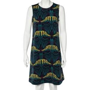 M Missoni Purple Scuba Print Jersey Sleeveless Dress L