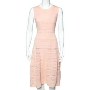 M Missoni Pink Patterned Knit Sleeveless Midi Dress M