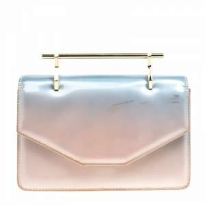 M2Malletier Blue/Peach Ombre Patent Leather Indre Shoulder Bag