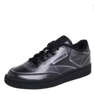 Maison Margiela x Reebok Dark Grey Leather Project 0 Low Top Sneaker Size 36
