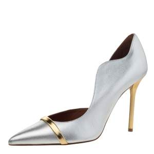 Malone Souliers Silver/Gold Leather Morrissey Pumps Size 39