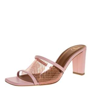 Malone Souliers PVC And Leather Open Toe Sandals Size 39