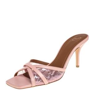 Malone Souliers PVC And Leather Perla Slide Sandals Size 39