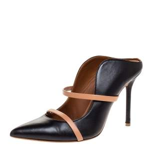 Malone Souliers Black Leather Maureen Mules Size 37.5