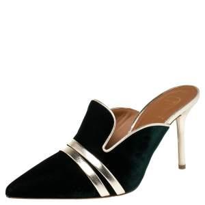 Malone Souliers Green Velvet Hayley Mule Size 36.5