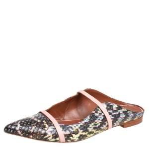Malone Souliers Multicolor Python Maureen Sandals Size 41.5