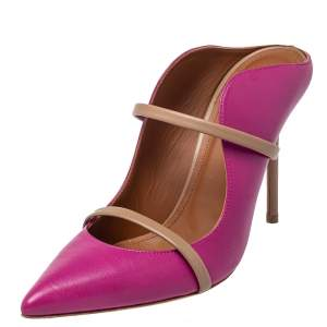 Malone Souliers Pink /Beige Leather Maureen  Pumps Size 40.5
