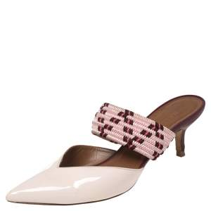 Malone Souliers Pink Patent Leather Maisie Sandals Size 36.5