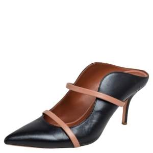 Malone Souliers Black Leather Maureen Mules Size 39