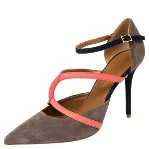 Malone Souliers Grey/Blue Suede Veronica D'orsay Pumps Size 41
