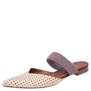 حذاء سلايد فلات مالون سولييه مايزي رافيا مجدول متعدد الألوان  مقدمة مدببة مقاس 39
