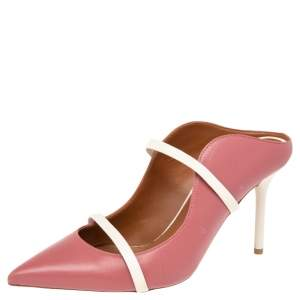 Malone Souliers Pink Leather Maureen Mule Sandals Size 39