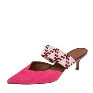 Malone Souliers Multicolor Woven Raffia Maisie Sandals Size 39