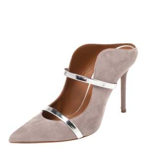 Malone Souliers Grey Suede Maureen Mule Sandals Size 37