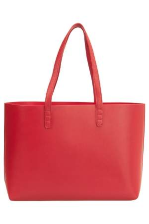 Mansur Gavriel Flamma/Flamma Leather Large Tote