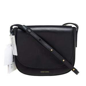 Mansur Gavriel Tan Leather Mini Crossbody Bag