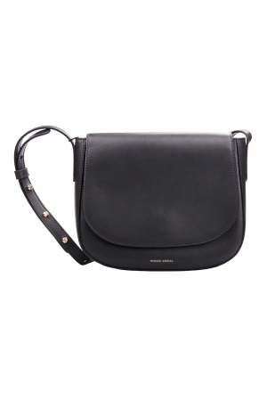 Mansur Gavriel Black Leather Crossbody Bag