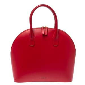 Mansur Gavriel Red Leather Dome Satchel