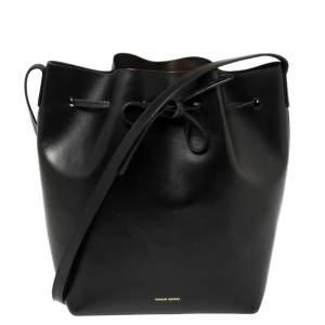 Mansur Gavriel Black Leather Large Bucket Bag