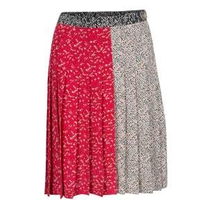 Marc by Marc Jacobs Multicolor Graphic Print Pleated Silk Skirt S